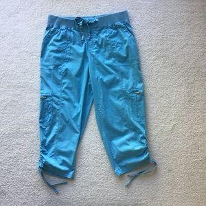 RAFAELLA SPORT CLASSIC SIZE 12 BLUE CROP PANTS
